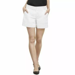 Linen Kenneth Cole NY Flat Front Shorts 16